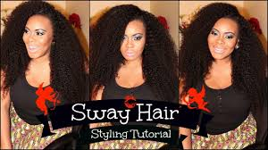 hair weave styles 2013 no edges no part sew in styling tutorial with sway hair kinky texture