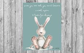 velveteen rabbit nursery bunny nursery velveteen rabbit prints for