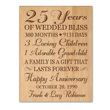 25th anniversary gifts for parents personalized 25th anniversary gift for him 25th wedding anniversary