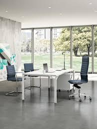 bureau de direction blanc grand bureau de direction mélaminé coloris blanc hoover