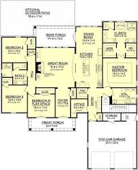 searching for a large open floor house plan with an acadian