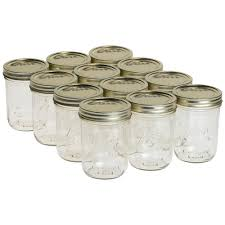 kerr 1 pt wide mouth mason jars 12 count 011055 jars the home
