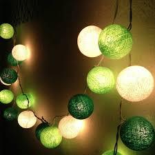 green led string lights chrismas 20 cotton ball white green dark green led string lighting