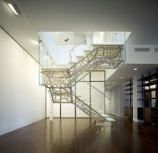 Apartment Stairs Design 3d Industrial Design Metal Glass Staircase