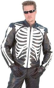 white leather motorcycle jacket skeleton leather motorcycle jacket m742sk