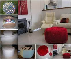 Plastic Ottoman Diy Simple Ottoman From Recycled Plastic Bottles Home Diy