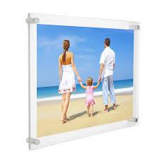 amazon com 11x14 clear acrylic wall mount floating frameless