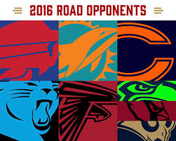 san francisco 49ers 2016 home and away opponents