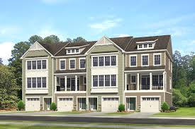 Garage Homes Liberty Crossing Townhomes In Williamsburg Va Hhhunt Homes