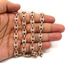 rose gold rope chain bracelet images 14k solid rose gold champagne diamonds gucci puff chain 24 8 80mm jpg