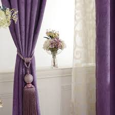 Thick Purple Curtains Chenille Fabric Purple Blackout And Insulated Bedroom