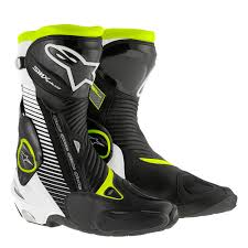 black moto boots alpinestars smx plus boot black white u0026 fluo module moto