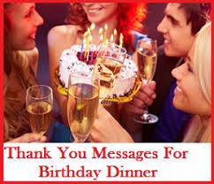 Thank You Note After Dinner Party - sample messages and wishes thank you messages for dinner