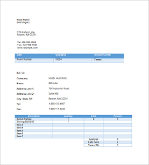 hotel invoice templates u2013 15 free word excel pdf format