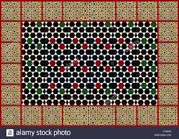 moorish geometric design wall tiles collage stock photo royalty