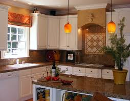 Kitchen Window Backsplash Kitchen Impressive Hanging Lamp Above Gas Stove On Interesting