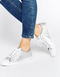 lacoste boots womens canada lacoste ziane leather lace up silver shoes