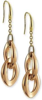 gold dangle earrings 18k gold dangle earrings by chimento jg59199