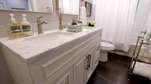 how to make a small bathroom feel bigger good bones youtube