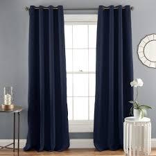 Navy Window Curtains Jamel Blackout Window Curtain Set