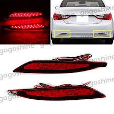 2013 hyundai sonata tail light bulb size 2x led lens rear bumper reflector brake light for hyundai sonata