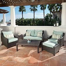 shop rst brands deco 6 piece wicker patio conversation set at