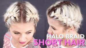 step by step braid short hair halo braid tutorial for short hair foto video