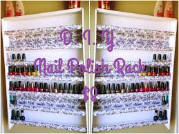 how to make a nail polish rack cheap under 10 youtube