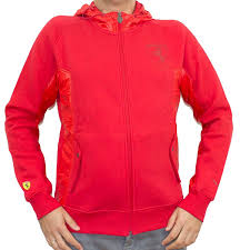 ferrari jacket mens puma red ferrari hooded sweat jacket hoodie red xxl amazon