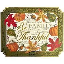 thanksgiving paper placemats customized fall autumn beige white