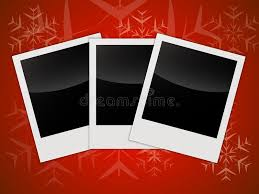 merry christmas card templates with blank photo frames stock