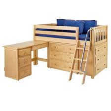 Bunk Bed With Desk And Dresser Low Loft Bed With Dressers And Desk Low Loft Beds