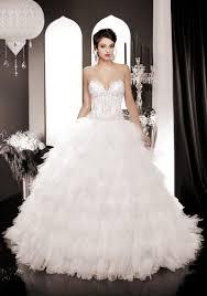 2015 romantic beading wedding dresses sweetheart cascading ruffle