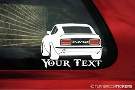 custom nissan 240z datsun 240z stanced custom add your text u0026 font silhouette sticker