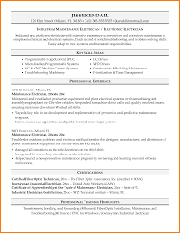 alluring resume of industrial electrician in electrician cover