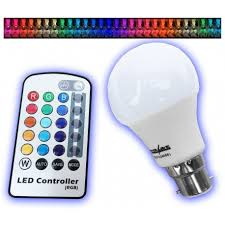 color changing light bulb with remote powersave 4w bc b22 remote control colour changing led light bulb