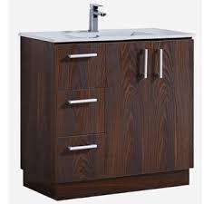 Dresser Style Bathroom Vanity by Modern Style 35 Inch Grey Walnut Finish Single Sink Bathroom