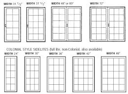 Patio Door Sizes Pretty Standard Door Size On This Standard Size Chart Is To
