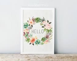 hello floral etsy
