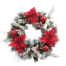 Outdoor Christmas Decorations Tulsa Ok by Shop Artificial Christmas Wreaths At Lowes Com