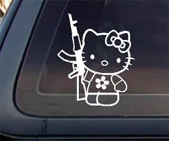 kitty kalashnikov ak 47 car decal sticker