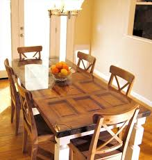 How To Make A Dining Table Out Of A Old Door DIY And Crafts - Old kitchen table