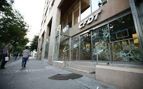 siege cgt des casseurs vandalisent le siège de la cfdt à le parisien