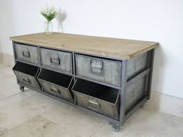 metal and wood storage cabinets large retro industrial metal wood storage unit cabinet my home