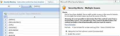 security enable macros for specific excel file super user