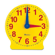 time learning clock big time demonstration clock learning resources