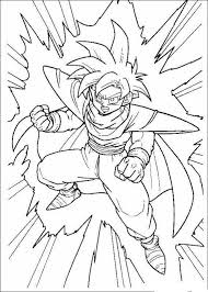Coloriage de Manga Dragon Ball Z dessin Peur de rien ni de personne