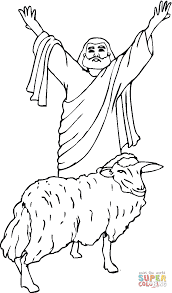 sacrificial lamb coloring page free printable coloring pages