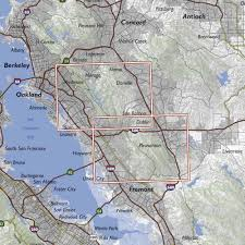 Oakland Map Oakland Hills And Pleasanton Ridge Trail Map
