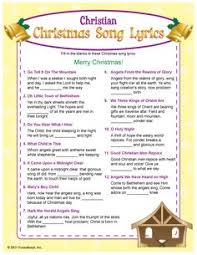 free printable christmas song lyric games christian christmas song lyrics christmas pinterest christian